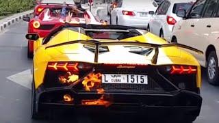 getlinkyoutube.com-Lamborghini pegando fogo no Trânsito em Dubai