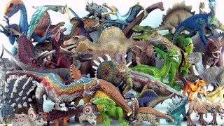 getlinkyoutube.com-Entire Schleich Dinosaur toy collection - Tyrannosaurus Spinosaurus Triceratops Stegosaurus
