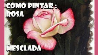 getlinkyoutube.com-Como Pintar : Rosa ( Passo a Passo )