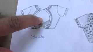 getlinkyoutube.com-Single Katori Blouse Drafting/Cutting / Stitching part 2 of 16 hindi
