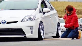 getlinkyoutube.com-シャコタン大会 プリウス 【Track and Show 2015】 車高短 Lowered Lowcar exhaust