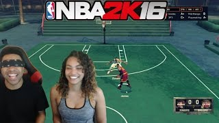 getlinkyoutube.com-GIRLFRIEND VS BOYFRIEND ! LeBron Vs Durant NBA 2k16 #Blindfoldchallenge! & Funny Moments