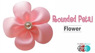 How to Make a Rounded Petal Ribbon Flower - TheRibbonRetreat.com