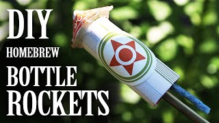 getlinkyoutube.com-Home-brew Bottle Rockets - (From Household Materials)
