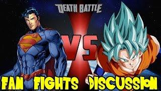 getlinkyoutube.com-Goku vs Superman ScrewAttack DEATH BATTLE Outcome & Future Cross Universe Fan Fights