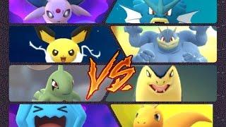Pokémon GO Gym Battles Level 7 & 9 Typhlosion Larvitar Pichu Crobat Bellossom Togepi & more