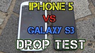 Iphone 5 ile Samsung S3 düşme testi