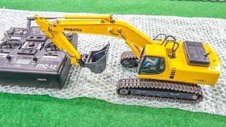 getlinkyoutube.com-RC excavator gets unboxed and dirty for the first time!
