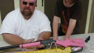 getlinkyoutube.com-UnBoxing the nutnfancy - PFIDude Pink Red Ryder BB Gun