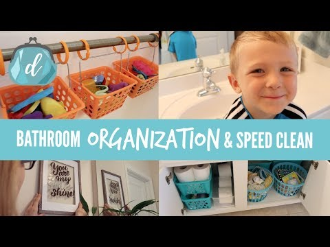 Bathroom Organization & Speed Cleaning 💙 Tips for KIDS' BATHROOMS!