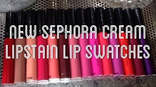 getlinkyoutube.com-SEPHORA CREAM LIPSTAIN LIP SWATCHES 2016