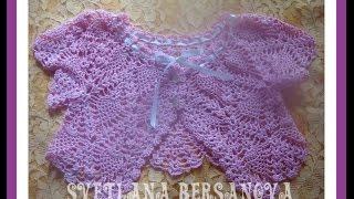getlinkyoutube.com-Жакет-болеро для девочки вязаный крючком. Часть 1.Bolero jacket for girls crocheted. Part 1.