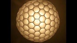 getlinkyoutube.com-Membuat lampu dari gelas dan sendok plastik