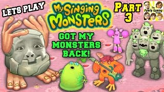 Lets Play MY SINGING MONSTERS Part 3! Mike Lost His Stuff! (FGTEEV Face Cam Commentary)