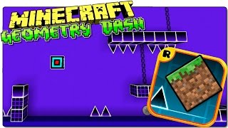 getlinkyoutube.com-GEOMETRY DASH MINECRAFT MAP | Juega a Geometry Dash en Minecraft | REVIEW ESPAÑOL