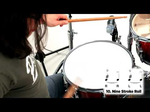 Pearl Drum Rudiments - 9 Stroke Roll