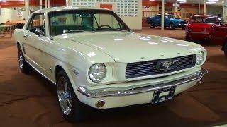 getlinkyoutube.com-Awesome Sounding 1966 Ford Mustang 289 V8 Solid Lifter Cam 4 Barrel Carb