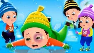 getlinkyoutube.com-Five Little Babies Skating On Ice | Nursery Rhymes & Songs For Children | TinyDreams Kids