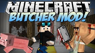 getlinkyoutube.com-Minecraft | BUTCHER! (Meat Hooks, Cleavers, Barbecues & More!) | Mod Showcase