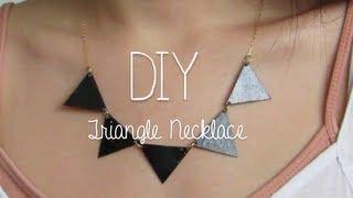 getlinkyoutube.com-DIY: Triangle Necklace