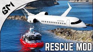 getlinkyoutube.com-GTA 5 - AVION CRASHÉ EN MER - Rescue Mod V - US Coast Guard