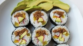 getlinkyoutube.com-How to make tuna gimbap