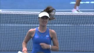 getlinkyoutube.com-Hingis/Mirza v Duque-Marino/Pereira highlights (1R) | Australian Open 2016
