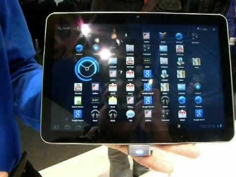 Samsung Galaxy Tab 10.1 - video demo @ MWC 2011