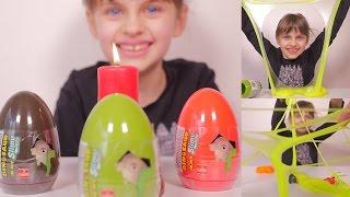 getlinkyoutube.com-[ANNIVERSAIRE]  3 oeufs dinosaures Slimy - Unboxing 3 Slimy dinosaurs eggs