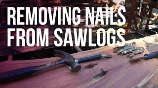 getlinkyoutube.com-Removing Nails from Sawlogs