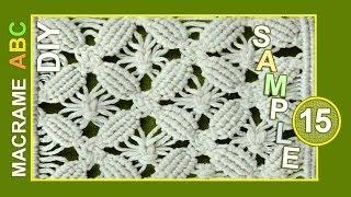 Macrame ABC - pattern sample #15