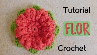 getlinkyoutube.com-Como tejer una flor a crochet