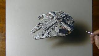 getlinkyoutube.com-Millennium Falcon | Star Wars | Drawing #6 (Fan Art)