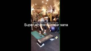 Training with my super athletic celebrity client Sana fakhar