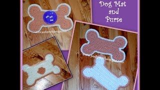 Crochet a Dog Bone Mat and Purse