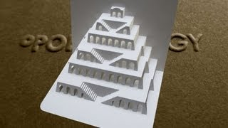 getlinkyoutube.com-Pop Up Tower of Babel Card Tutorial - Origamic Architecture
