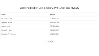 Make Pagination using Ajax with Jquery, PHP and MySQL