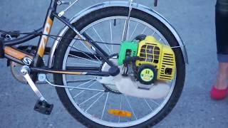 getlinkyoutube.com-Веломотор Весна-Лайт | Motorized bicycle