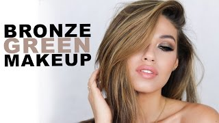 Bronze Green Summer Makeup Tutorial | Full Talk Through | Eman