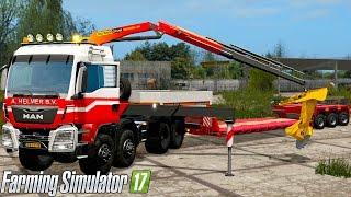 Farming Simulator 2017 - MAN 8X8 WITH PALFINGER CRANE!