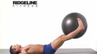 getlinkyoutube.com-20 Swiss Ball Leg Lifts