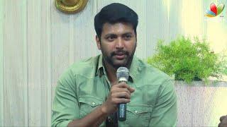 Jayam Ravi at Romeo Juliet Success Meet | Hansika | Press Interaction width=