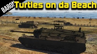 getlinkyoutube.com-War Thunder Tanks - T-95 Doom Turtle, D-Day Map Gameplay