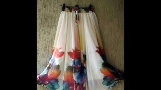 getlinkyoutube.com-Circle Skirt Cutting And Stitching -EASY METHOD(DIY)