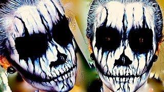 getlinkyoutube.com-Demon / Corpse Paint; Halloween Makeup Tutorial.
