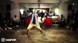 InstaFUNK 2015 Popping & Locking Battle - j-Smooth - Popping Judge Solo