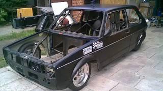 getlinkyoutube.com-VW Rabbit MK 1 Rotary 13B PP Methanol Turbo - Full Tube Chassis