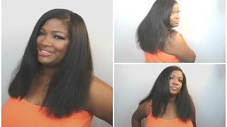 getlinkyoutube.com-LONG HEALTHY HAIR! FLAT IRONED! TAIL BONE LENGTH GOAL! | 3 OF 3