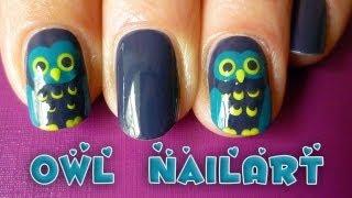getlinkyoutube.com-easy owl nail art tutorial for fall/autumn or halloween