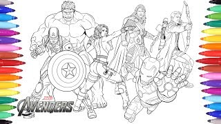 THE-AVENGERS-Coloring-Pages-Coloring-Painting-Avengers-Iron-Man-Captain-America-Thor-Hulk width=